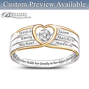 In A Mother's Heart Brilliant Motions Diamond Ring