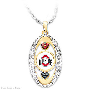 """For The Love Of The Game"" Ohio State Buckeyes Pendant"
