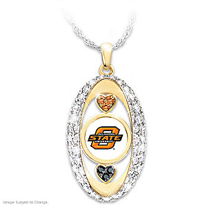 """For The Love Of The Game"" Oklahoma State Cowboys Pendant"