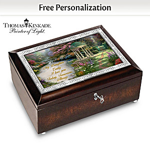Thomas Kinkade Daughter Music Box Personalized With Her Name