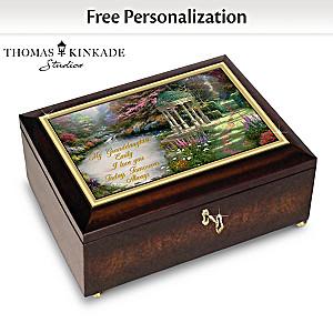 Thomas Kinkade Personalized Music Box For Granddaughter