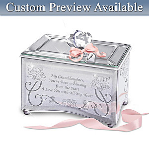"""Granddaughter, You're a Blessing"" Name-Engraved Music Box"