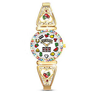 """""""Lucky Jackpot"""" Women's Watch With Spinning Slot Icons"""