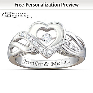 Dance Of Love Personalized Brilliant Motions Diamond Ring