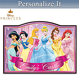 Disney Princess Wooden Welcome Sign Personalized With Name
