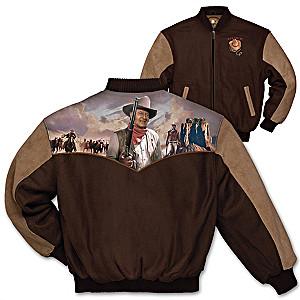 """Duke"" Men's Varsity-Style Twill Jacket With Portraits"