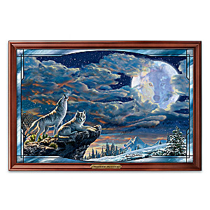 Adrian Chesterman Illuminated Wolf Art Stained Glass