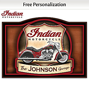 2015 Indian Motorcycle Welcome Sign Personalized With Name