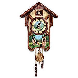 "Linda Picken ""German Shepherd"" Wall Clock"