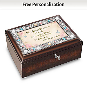 Music Box With Granddaughter's Name In Sentiment