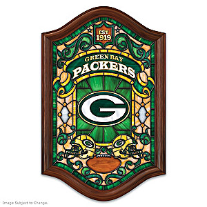Green Bay Packers Illuminated Stained-Glass Wall Decor