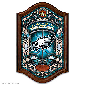 Philadelphia Eagles Illuminated Stained-Glass Wall Decor