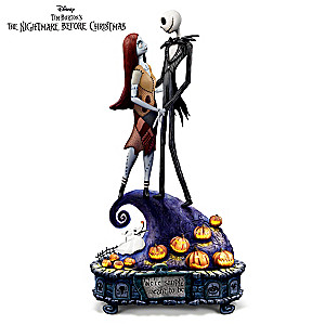 Jack & Sally Simply Meant To Be Illuminated Musical Figurine