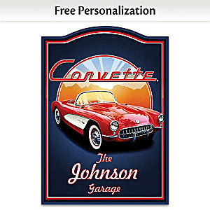 1957 Chevrolet Corvette Welcome Sign Personalized With Name