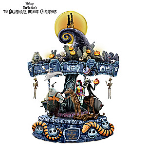 The Nightmare Before Christmas Illuminated Musical Carousel