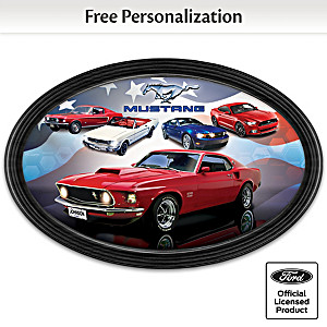 Ford Mustang Collector Plate Customized With Name And State