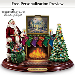 Thomas Kinkade Lighted Musical Sculpture With Up To 6 Names