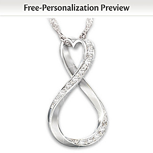 """Forever Our Love"" Custom Diamond Pendant And Sentiment Card"