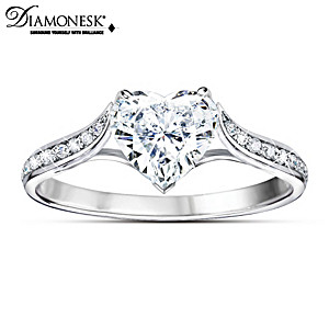 """Love At First Sight"" Diamonesk Simulated Diamond Ring"