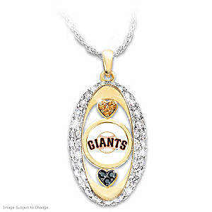 """For The Love Of The Game"" Giants Crystal Pendant"