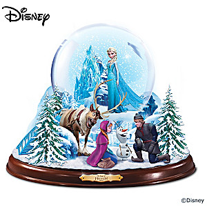 Disney FROZEN Light Up Musical Snowglobe With Swirling Snow