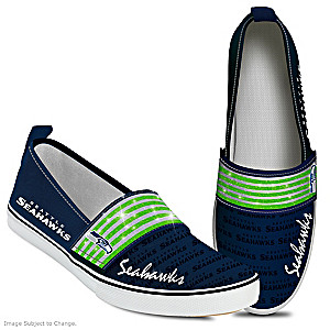 NFL-Licensed Seattle Seahawks Women's Slip-On Shoes