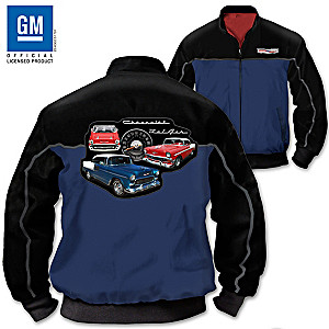 Chevy Bel Air Men's Twill Jacket With Embroidered Patch
