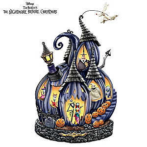 The Nightmare Before Christmas Illuminated Musical Pumpkin