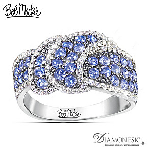 "Bob Mackie ""Tantalizing Tanzanite"" Diamonesk Ring"