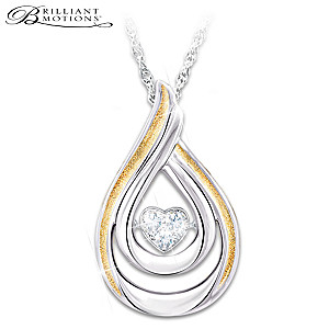 Brilliant Motions Diamond Pendant Necklace For Daughters