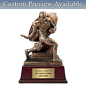 "Custom ""Fantasy Football"" Trophy Cold-Cast Bronze Sculpture"