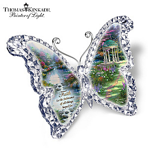 "Thomas Kinkade ""Faith"" Butterfly Sculpture"