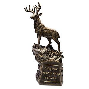 """Noble Spirit"" Cold-Cast Bronze Deer Sculpture"