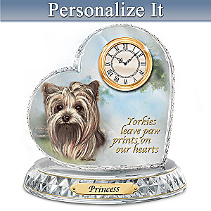 Pollyanna Pickering Yorkie Clock With Your Dog's Name