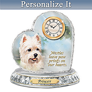 Linda Picken Westie Clock With Your Dog's Name