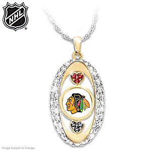 """For The Love Of The Game"" Chicago Blackhawks® Pendant"
