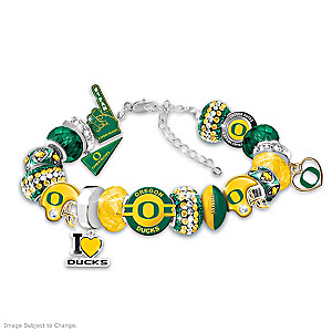 """Fashionable Fan"" Ducks Charm Bracelet With 16 Charms"
