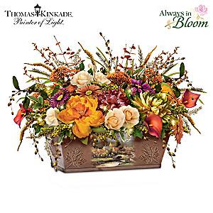 "Thomas Kinkade ""Splendors Of Nature"" Illuminated Centerpiece"
