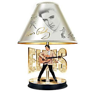 "Elvis Presley ""Golden Legend"" Lamp With Illuminating Base"