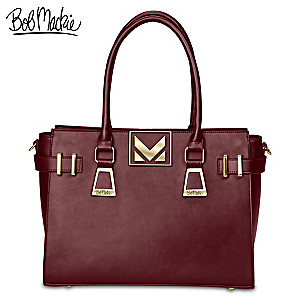 "Bob Mackie ""Napa Merlot"" Leather Handbag"