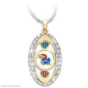 """For The Love Of The Game"" Kansas Jayhawks Pendant"