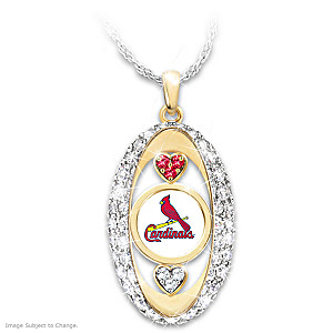 """""""For The Love Of The Game"""" Cardinals Crystal Pendant"""