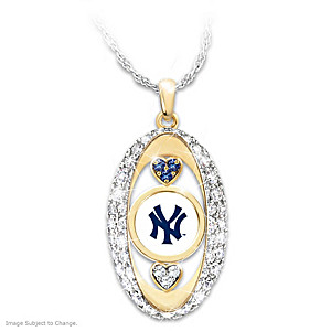 """""""For The Love Of The Game"""" Yankees Crystal Pendant"""