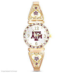 """""""My Aggie"""" Team-Color Crystal Ultimate Fan Watch"""
