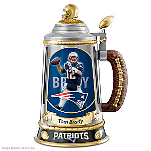 Tom Brady Patriots Porcelain Collectible Stein
