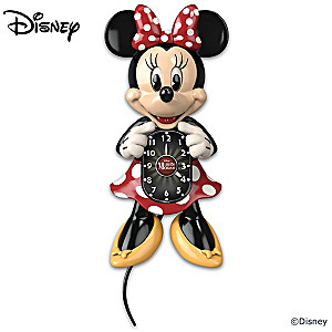 Disney Minnie Mouse Motion Clock With Moving Eyes And Tail