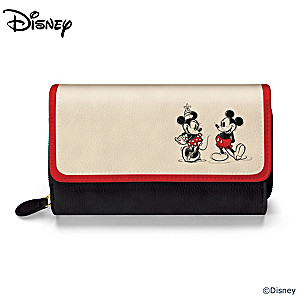 "Disney Mickey Mouse and Minnie Mouse ""Love Story"" Wallet"