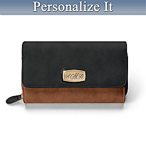 Personalized Designer Wallet With Engraved Initials