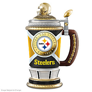 Pittsburgh Steelers Commemorative Porcelain Collector Stein
