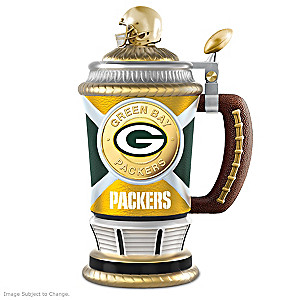 Green Bay Packers Commemorative Porcelain Collector Stein